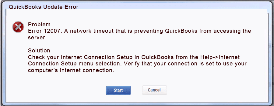 Quickbooks update error 12007 is an update error that occurs when the users try to update Quickbooks software or the Quickbooks payroll. As we all know QuickBooks is the most versatile and renowned software in the whole world. This software assists its users to manage all the accounting and book-keeping activities without any further issues and resistances. In such a situation when the user becomes unable to update this amazing software due to the QuickBooks update error 12007. Updating Quickbooks is one of the crucial activities of the system because updating Quickbooks and the QB payroll gives the users ultimate benefits and new features of Quickbooks and QB payroll. In this post, we are about to discuss all the possible factors, symptoms, and solutions to fix this error in the first place. QuickBooks 2009 Update Error 12007: Definition Quickbooks Update Error 12007 occurs When the operating system is facing any registry error that affects the misconfiguration in the system file. When this error occurred, an error message flashes on the screen that states: Problem Error 12007: A network Timeout that is preventing Quickbooks from accessing the server There are several reasons to justify the occurrence of the error 12007 Quickbooks update that we are about to discuss in the further paragraphs Factors that Cause the Qucikboks 2009 Update Error 12007 These are factors that support the Quickbooks Update Error 12007 to emerges. ● The bad internet connection incomplete the installation process. ● The network is encountering timeout during QuickBooks payroll update requests to the server. ● When Internet Explorer is not set as the default browser. ● The firewall blocks interrupt with the update installation process ● When SSL Checkbox is removed from the Internet Explorer option. Symptoms of QuickBooks 2010 Update Error 12007 These signs are the first impression of the Quickbooks Update Error 12007 that signifies the users about the emergence of the error. ● An error mess